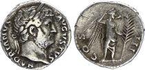 Rome Empire Denier,  Hadrien - 127 Rome - COS III - TTB