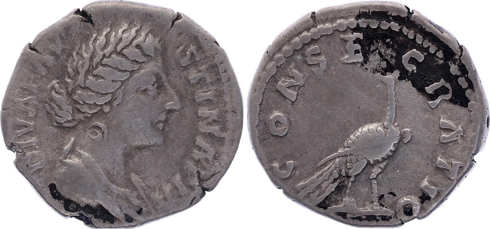 Rome Empire Denier, Diva Faustina (176-180) - CONSECRATIO