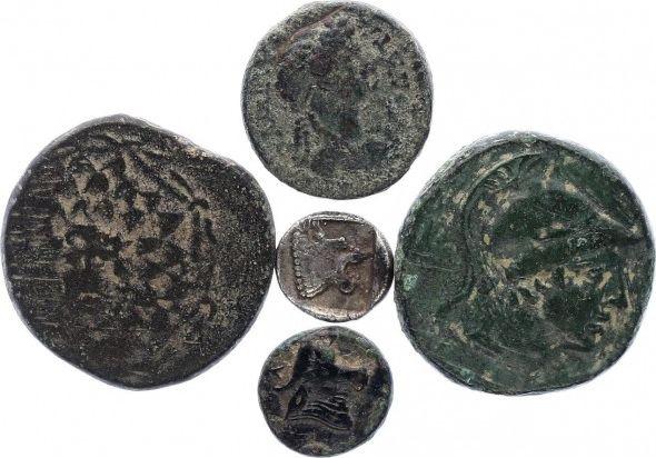 Rome Empire Lot de 5 pièces Grecques en Bronze