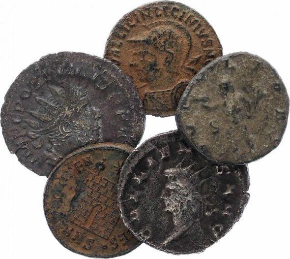 Rome Empire Lot de 5 pièces romaines en Bronze