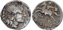 Rome Rép Denier,  Sergia -116 à -115 Rome TTB