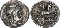 Rome République Denier,  Postumia -131 Rome TTB