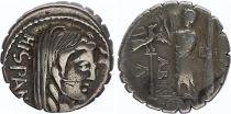 Rome République Denier serratus,  Postumia -81 Rome TB+