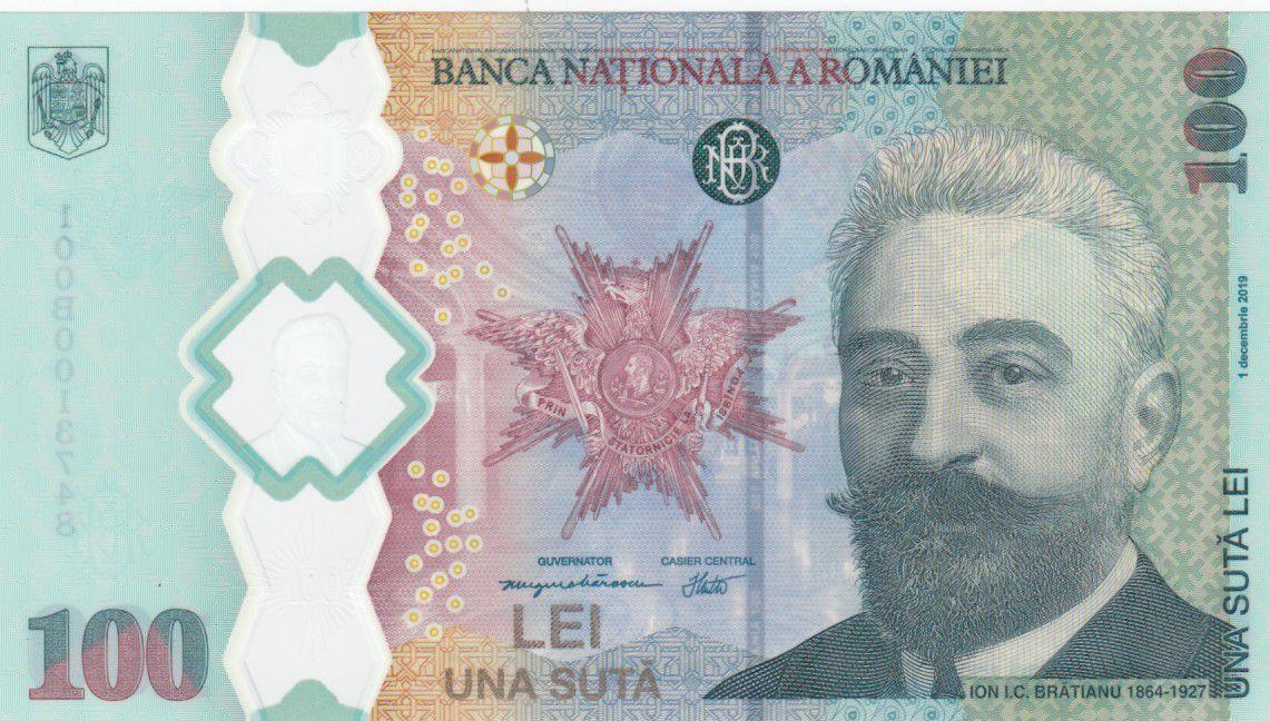 Roumanie 100 Lei Ion Bratianu - Grande Union 1919 - Polymer - 2019 Neuf