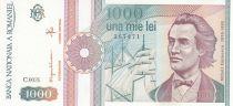 Roumanie 1000 Lei Mihai Eminescu - 1991