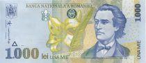 Roumanie 1000 Lei Mihai Eminescu, fleurs