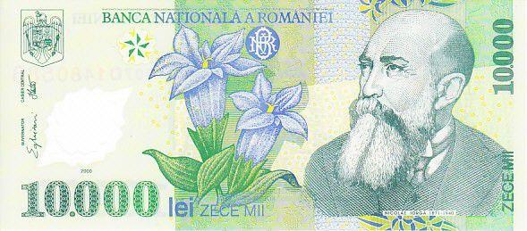 Roumanie 10000 Lei Nicolae Iorga - Aigle, église