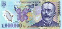 Roumanie 1000000 Lei Luca Caragiale - Fleurs, Statue - 2003 Polymer