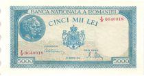 Roumanie 5000 Lei 1945 - Portrait d´hommes, vaches