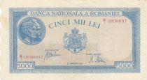 Roumanie 5000 Lei Portrait d´hommes - 1945