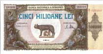 Roumanie 5000000 Lei Louve, Rémus, Romulus - 1947