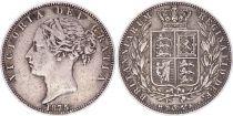Royaume-Uni 1/2 Crown, Victoria - Armoiries - 1875