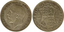 Royaume-Uni 1/2 Crown 1931 - Armoiries, George V, argent