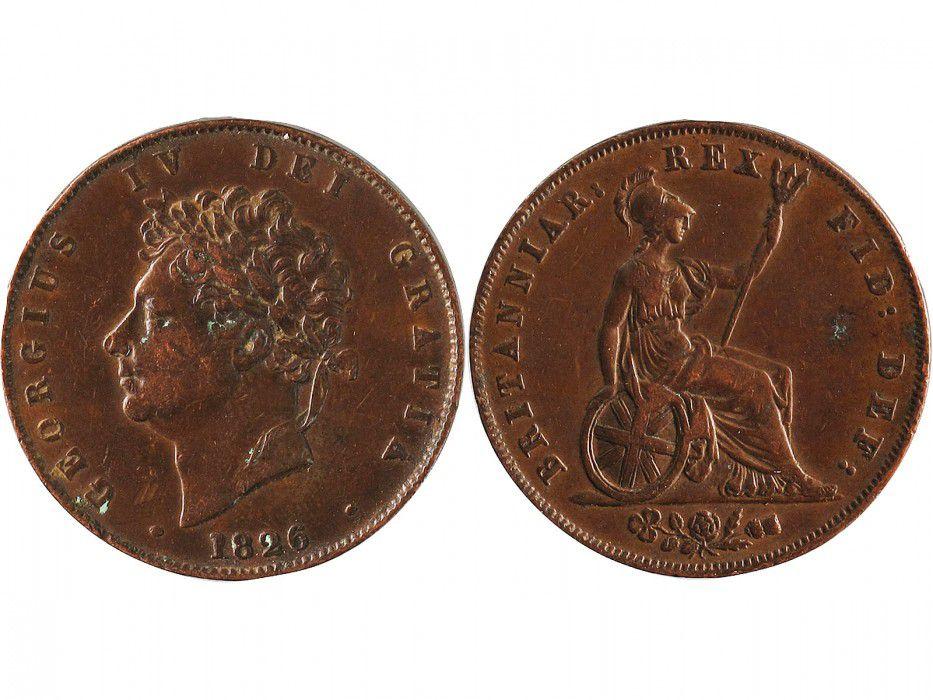 Royaume-Uni 1/2 Penny Georges IV