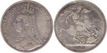 Royaume-Uni 1 Crown Victoria - St George et Dragon - 1888 Argent