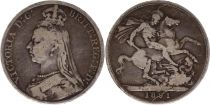 Royaume-Uni 1 Crown Victoria - St George et Dragon - 1891 Argent
