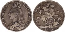 Royaume-Uni 1 Crown Victoria - St George et Dragon - 1892 Argent