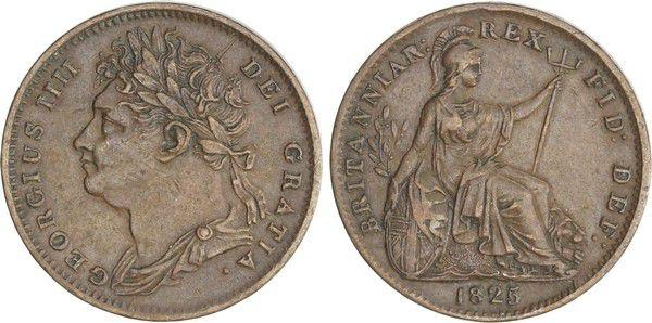 Royaume-Uni 1 Farthing George IV - 1825