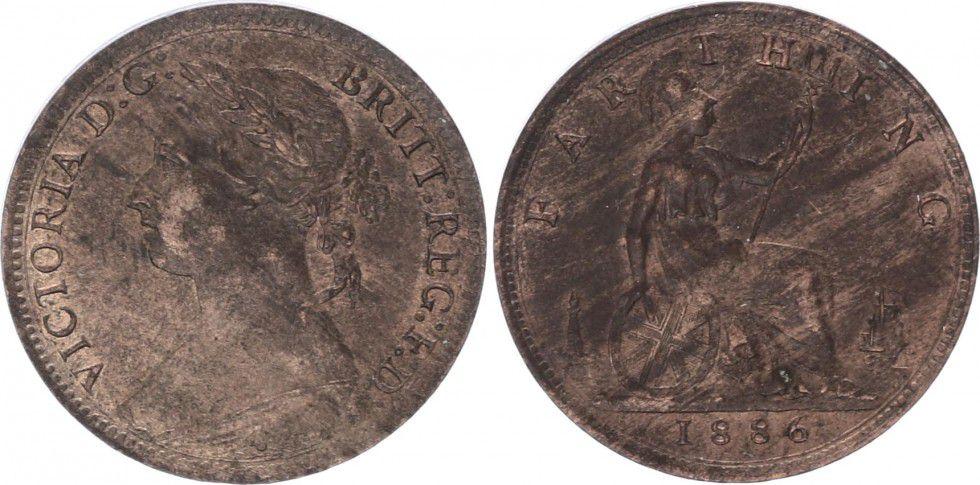 Royaume-Uni 1 Farthing Victoria - 1886
