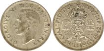 Royaume-Uni 1 Florin (2 Shillings) 1942 - Armoiries, George VI, argent