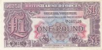 Royaume-Uni 1 Pound ND 1948 - Violet et rose 2ème ex