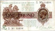 Royaume-Uni 1 Pound Roi George V et St George - 1922 - K1 100