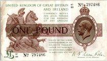 Royaume-Uni 1 Pound Roi George V et St George - 1922 - K1 20