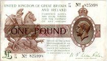 Royaume-Uni 1 Pound Roi George V et St George - 1922 - K1 78