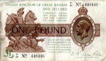 Royaume-Uni 1 Pound Roi George V et St George - 1922 - Z1 48