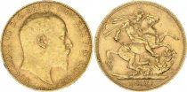 Royaume-Uni 1 Souverain Edouard VII - St George et dragon 1904
