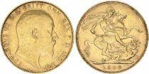 Royaume-Uni 1 Souverain Edouard VII - St George et dragon 1908