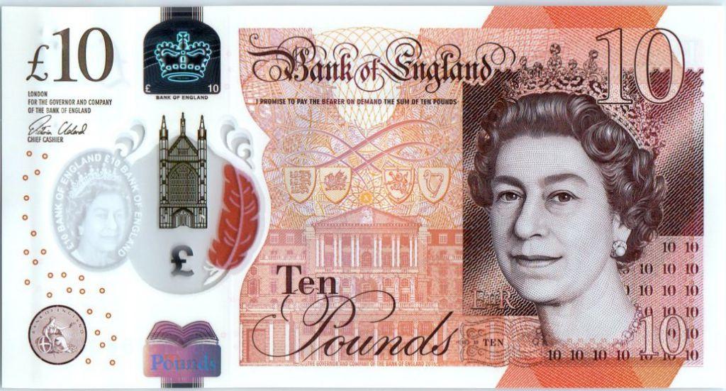 Royaume-Uni 10 Pounds Elisabeth II - Jane Austens - 2017 Polymer