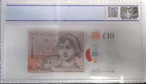 Royaume-Uni 10 Pounds Elisabeth II - Jane Austens - 2017 Polymer PCGS 67OPQ