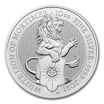 Royaume-Uni 10 Pounds Elisabeth II - Lion - 10 Once Argent 2021