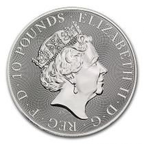 Royaume-Uni 10 Pounds Elisabeth II - Lion - 10 Once Argent 2021