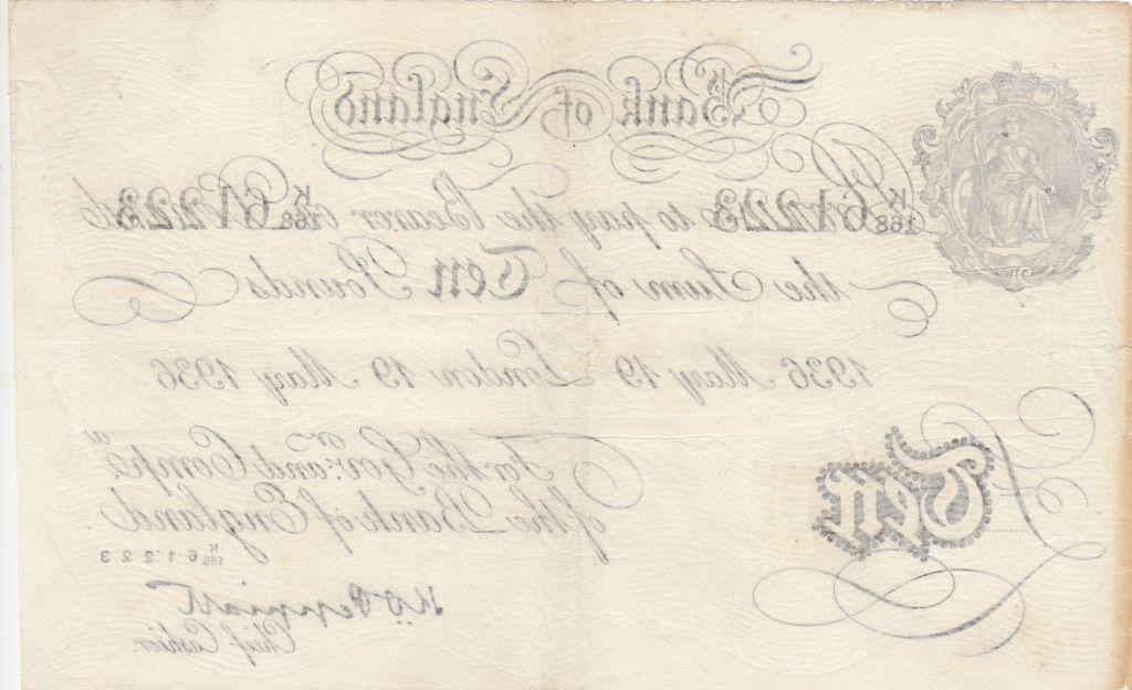 Royaume-Uni 10 Pounds Faux Opération Bernhard - 1936 - Londres - TTB