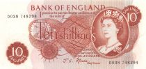 Royaume-Uni 10 Shillings Elisabeth II - Britannia - Sign. J.S. Fforde - SUP