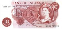 Royaume-Uni 10 Shillings ND1966-70 - Elisabeth II - Sign Pforde
