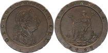 Royaume-Uni 2 Pence Georges III, Britannia - 1797