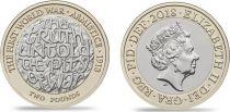 Royaume-Uni 2 Pounds - 100 ans de l\'Armistice 1918-2018 - Bimétal