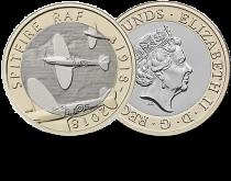 Royaume-Uni 2 Pounds 2018 - Avion Sptifire