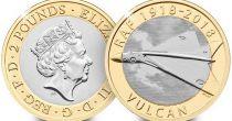 Royaume-Uni 2 Pounds 2018 - Avion Vulcan - Bimétal