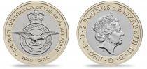 Royaume-Uni 2 Pounds 2018 - Badge de la Royal Air Force - Bimétal