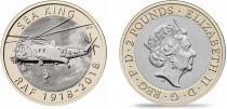 Royaume-Uni 2 Pounds 2018 - Hélicoptère Sea King - Bimétal