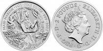 Royaume-Uni 2 Pounds Elisabeth II -  Marianne - Once Argent 2021