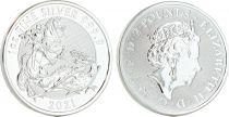 Royaume-Uni 2 Pounds Elisabeth II -  Vaillant - Once Argent 2021