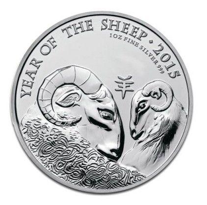 Royaume-Uni 2 Pounds Elisabeth II - Année de la Chèvre Once Argent 2015