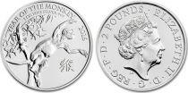 Royaume-Uni 2 Pounds Elisabeth II - Année du Singe Once Argent 2016
