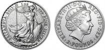 Royaume-Uni 2 Pounds Elisabeth II - Britannia Once Argent 2015