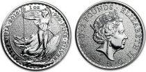 Royaume-Uni 2 Pounds Elisabeth II - Britannia Once Argent 2016